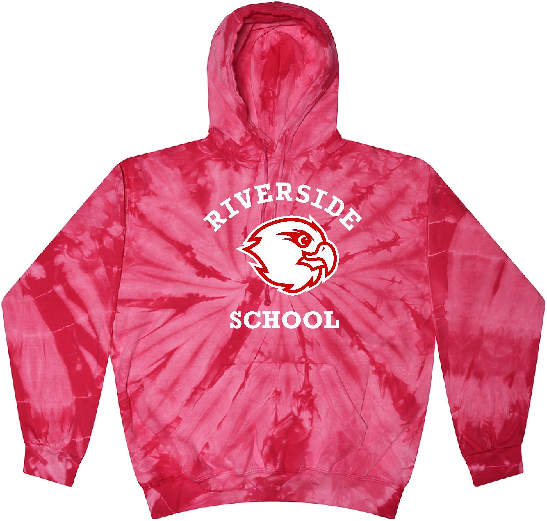 Pink Hoodie with hawk logo