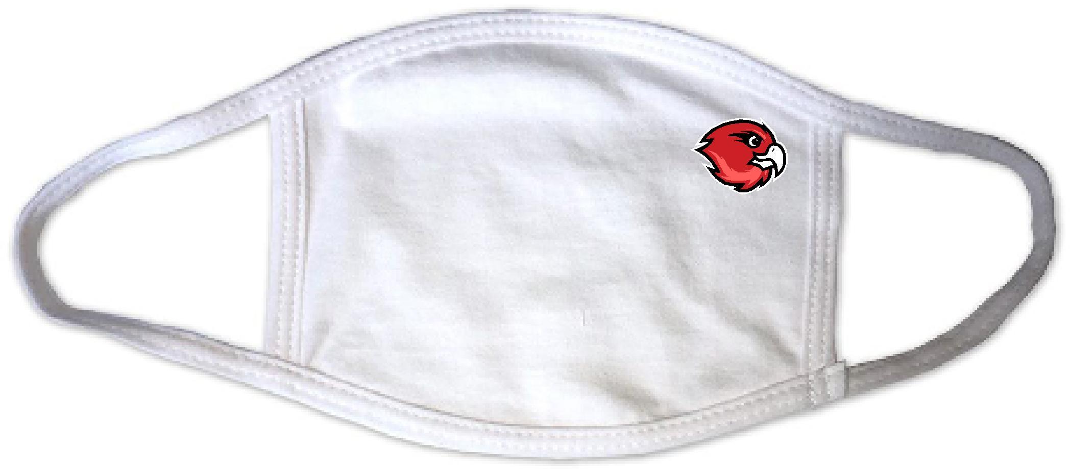 White mask with hawk logo